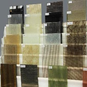 Safety 8mm 10mm 12mm 16mm decorative silk textiles fabric laminated glass factory