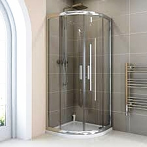 Safety tempered laminated glass shower door,bathroom enclosures supplier in China