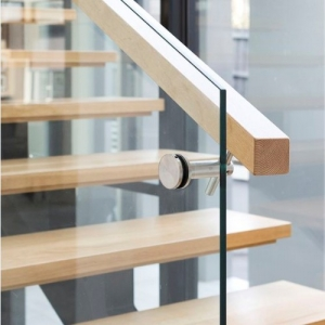 Shenzhen balustrade glass factory 19mm tempered glass handrail railings for sale