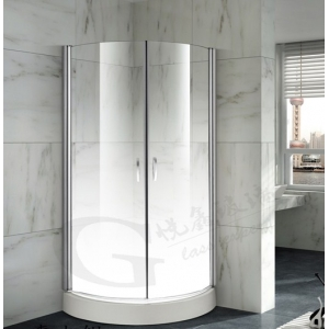 Special design bathroom frost gradient milky color 12mm low iron toughen glass extra clear safety shower glass 1/2'' color printed tempered glass door