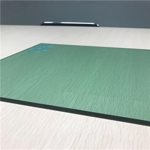 Supply factory price 6mm F-green color safety tempered glass in China