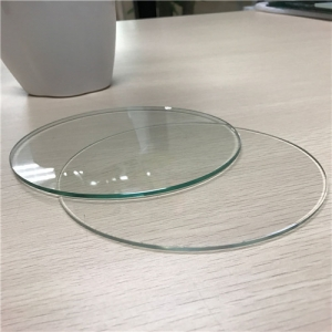 Wholesale price  4mm 5mm 6mm China clear round tempered glass supplier