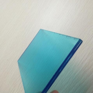 Wholesale price 6.38mm blue laminated glass,331 laminated float glass for sale