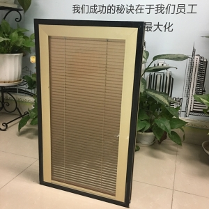 built-in louver insulating glass, insulated blind shatter glass, double glass with blinds