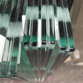 China 1/2'' safety tempered PVB laminated clear glass 12mm manufacturers factory price factory