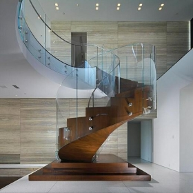China 12mm Curved glass railing panels,curved balustrade glass tempered factory price factory