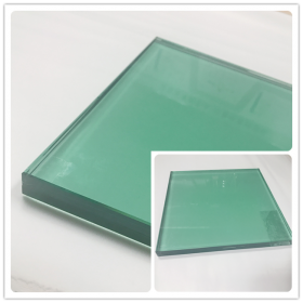 China 21.52mm F green color tempered laminated glass curtain wall,10104 French green toughened laminated glass roof factory