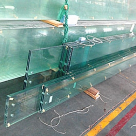 China 21.52mm tempered laminated glass fin,skylight glass rib support structure curtain wall system factory