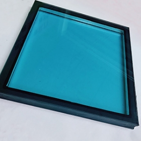 China 26.38mm double glazing insulated glass supplier, blue laminated insulated glass sheets, 6mm +12A+4mm+0.38mm PVB+4mm laminated insulated glass factory