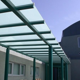China 5+5mm glass canopy manufacturer china,tempered laminated glass awnings price factory