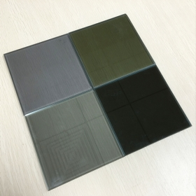 China 8.38mm grey color reflective float laminated safety glass China manufacturer factory