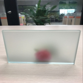 China CE certification 10mm Acid Etched tempered glass manufacturer China factory