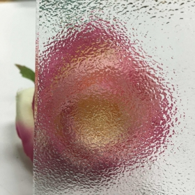 China China 4mm clear Nashiji glass manufacturer,4mm clear patterned glass price,temperable quality Nashiji pattern glass factory