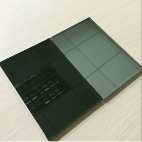 China China 6mm dark grey reflective glass supplier,6mm black reflective glass price factory
