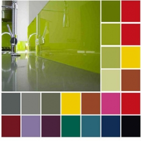 China China factory wholesale good quality 6mm color decoration lacquered glass factory