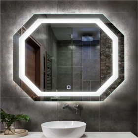 China China glass factory customized Illuminated Backlit bluetooth smart magic led light bathroom mirror prices factory