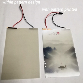 China China high quality digital printed pattern design magic Intelligence PDLC smart film wholesale prices factory