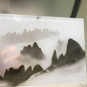 China Chinese landscape painting decorative laminated glass supplier factory