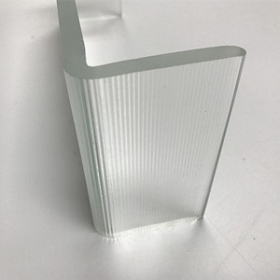 China Environmentally friendly recyclable 6mm 7mm ultra clear U profile channel glass factory