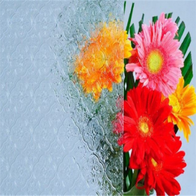 China Factory price decorative 4mm clear flora patterned glass manufacturer factory