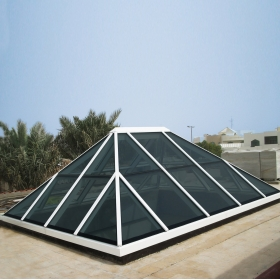 China Full solution of glass dome roof, glass canopy, Stainless steel Frame Skylight with Glass factory