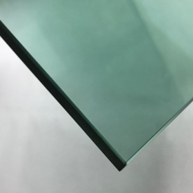 China Glass factory in China 8mm light green heat soaked tempered glass prices factory