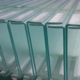 China Light weight architecture glass U profile translucent channel glass manufacturer factory