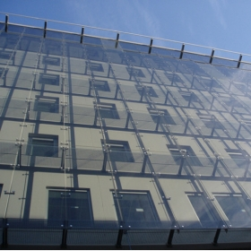 China Low iron tempered laminated low-e energy saving insulated glass Facades factory