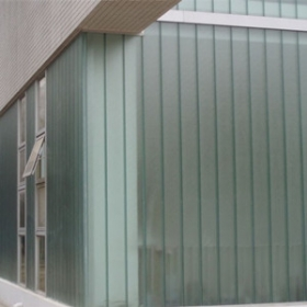 China Manufacturer of U-profile glass, 7mm U channel glass for curtain wall factory