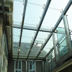 China Safety 6mm+6mm tempered laminated insulated glass roof factory