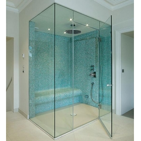 China Shower door glass frameless 6mm safety tempered glass suppliers China factory