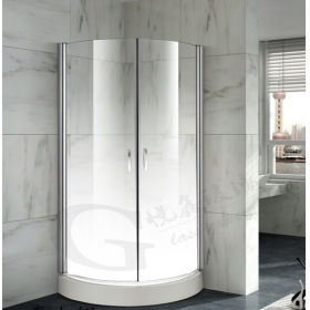 China Special design bathroom frost gradient milky color 12mm low iron toughen glass extra clear safety shower glass 1/2'' color printed tempered glass door factory