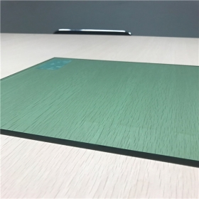 China Supply factory price 6mm F-green color safety tempered glass in China factory