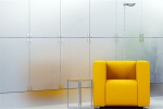What are the characteristics of frosted glass?
