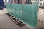 What is the procedure to make the tempered laminated glass with holes