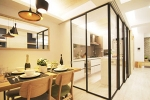 How to use a glass partition wall to create a stylish kitchen partition?