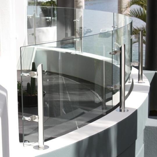12mm Curved Glass Tempered For Pool Fence Wholesale Price