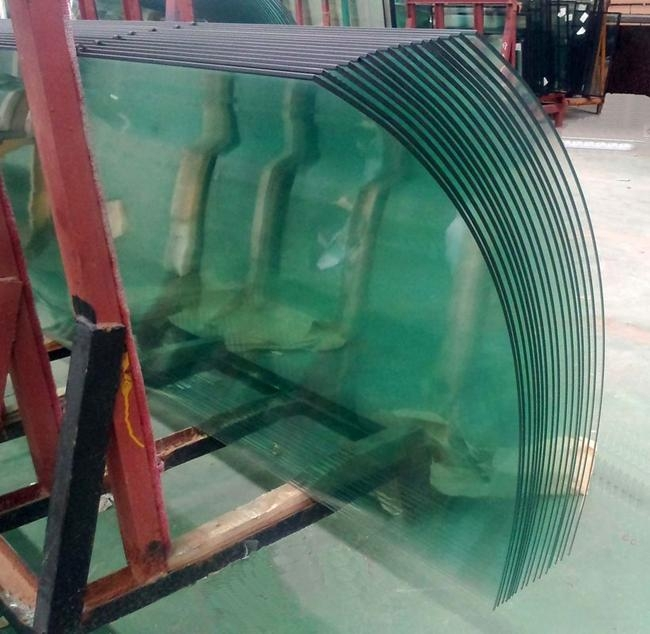 10mm Curved Tempered Glass China Safety Curved Glass