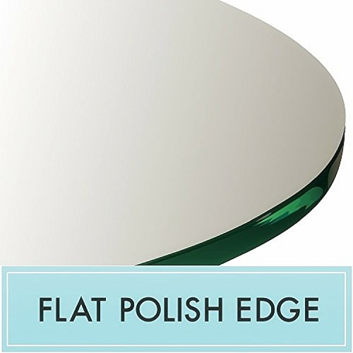 China Table Top Gl Supplier Tempered Price Round Beveled Edge