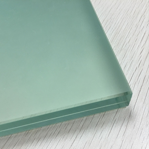 17 52mm Frosted Decorative Laminated Glass White