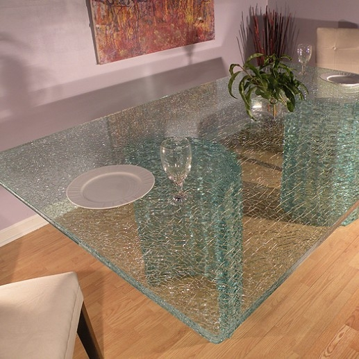 ... Good Price 5+5+5mm Ice Cracked Laminated Glass Table Top Manufacturer  China ...
