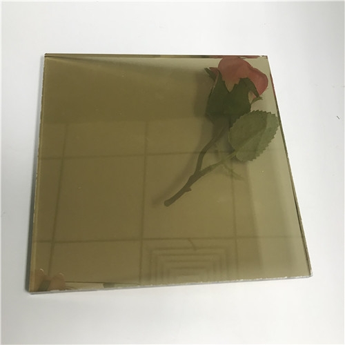 4mm Golden Reflective Float Glass Factory 4mm Golden