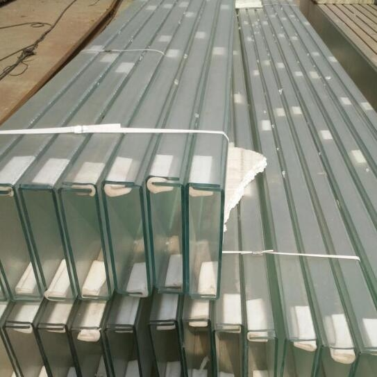 Exterior Channel Glass Curtain Wall U Channel Glass For