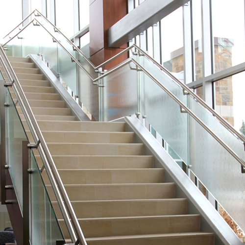 Stair Handrail Glass, Glass Stair Balustrade Cost, Curved